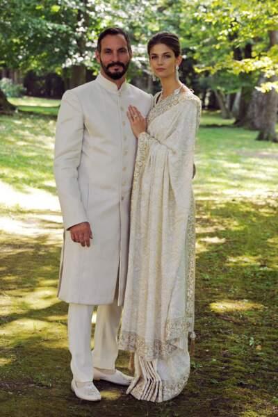 Le prince Prince Rahim Aga Khan lors de son mariage avec Kendra Salwa Spears à Genève en 2013