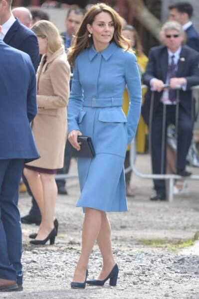 Kate Middleton avait opté pour un total look bleu lors de cet événement