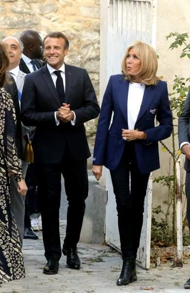 Le couple présidentiel lançait, le 20 septembre 2019, les 36es Journées du Patrimoine au château de By.