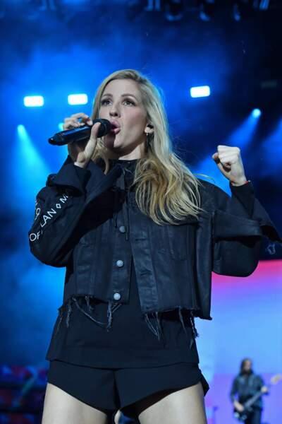 La chanteuse britannique Ellie Goulding sur scène en 2017