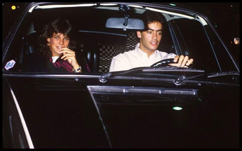 La princesse Stéphanie de Monaco et Anthony Delon à Paris en 1984