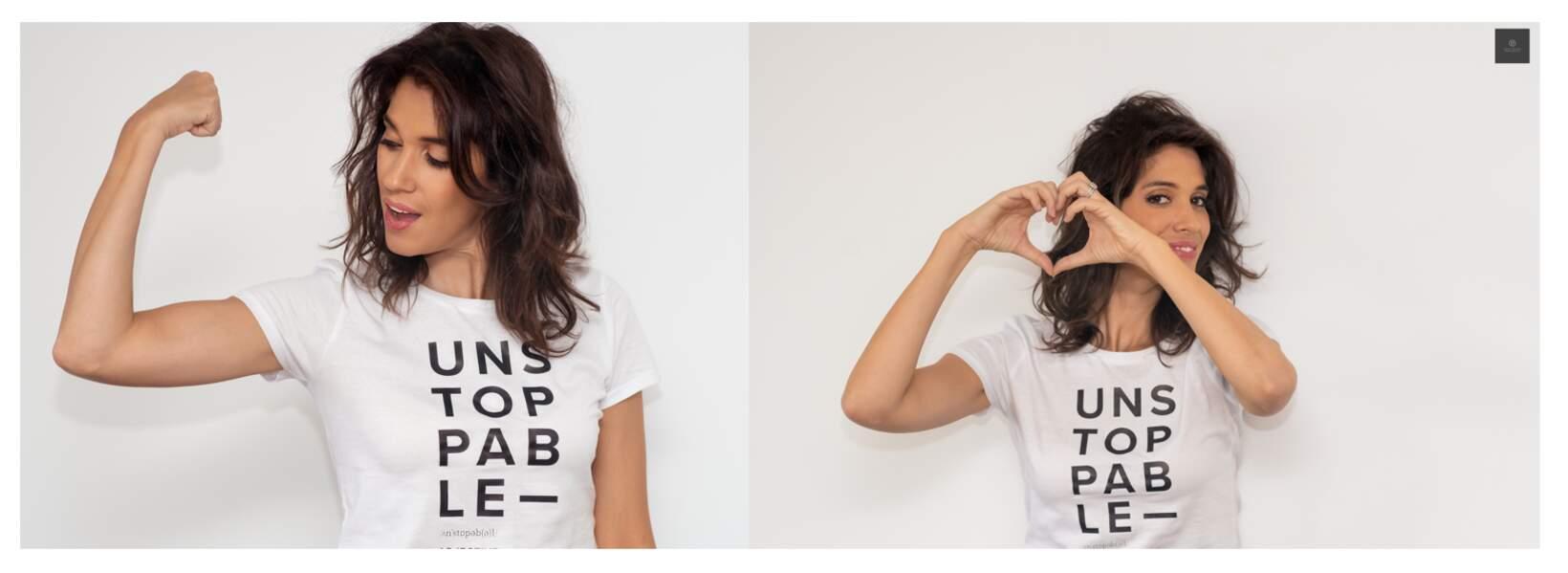Showroom Privé invite Laurie Cholewa pour soutenir la lutte contre le cancer du pancréas. Tshirt vendu du 3 au 7/10