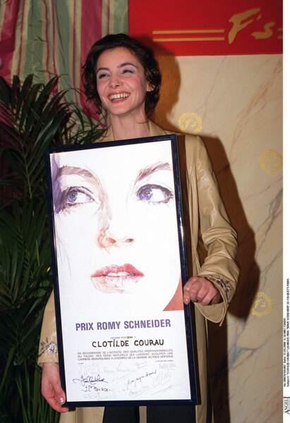 Clotilde Courau, comédienne, lauréate du prix Romy Schneider en 2000 à Paris