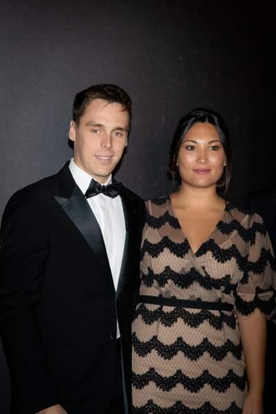 Louis Ducruet et sa femme Marie Ducruet, très chic, s'envoleront le lendemain pour leur voyage de noces
