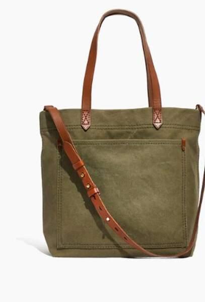 le sac en toile de Meghan Markle est signé Madewell et coûte 80,17 €