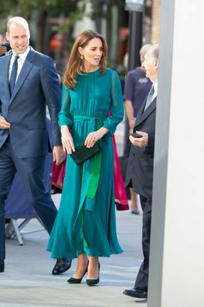 Kate Middleton chic en robe longue au centre culturel Aga Khan à Londres, le 2 octobre 2019.