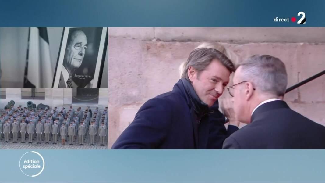 Michèle Laroque et François Baroin ont tenu à rendre hommage à Jacques Chirac à Paris, le 30 septembre 2019