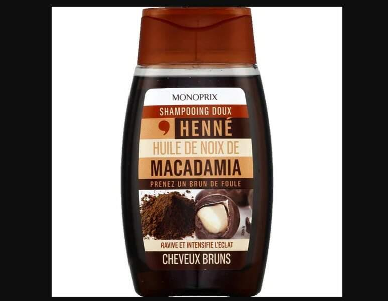 Pour souligner ses reflets: Shampooing doux henné cheveux bruns, Monoprix, 2,55 €