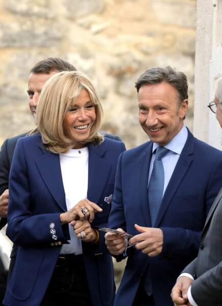 Stéphane Bern était également présent. Et il semble toujours aussi complice avec Brigitte Macron.