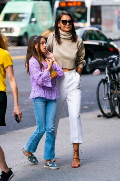 Katie Holmes et sa fille Suri Cruise, un même sens du style le 22 août 2019.
