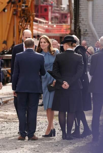 Kate Middleton a complété son look avec une paire de chaussures de la marque Emmy London