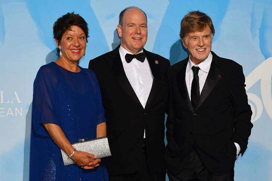 Sibylle Szaggars, la femme de Robert Redford, rejoint son mari et le prince Albert II de Monaco