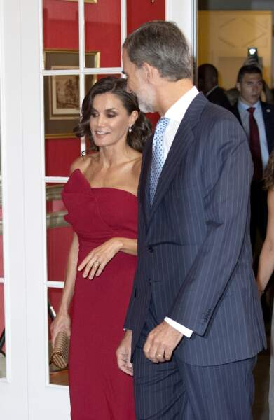 Le roi Felipe VI et la reine Letizia à Madrid, le 1er octobre 2019