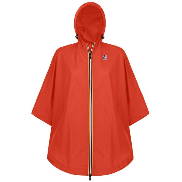 Cape orange en nylon, 99 €, K-Way.