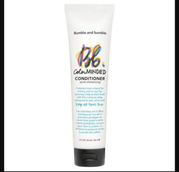 Pour entretenir les cheveux colorés: Color minded conditionner, Bumble and Bumble, chez Sephora, 35€