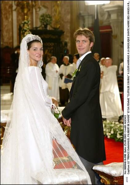 Le prince Emmanuel Filibert de Savoie lors de son mariage avec Clotilde Courau en 2003 à Rome