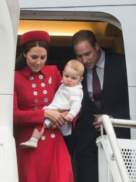 Quand le prince William et Kate Middleton ont pris l'avion avec George