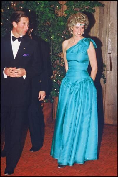 Quand la princesse Diana a porté un collier en émeraude et diamant en guise de tiare
