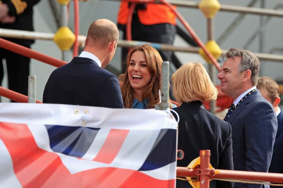 Lors de ce déplacement, Kate Middleton et le prince William sont apparus très complices