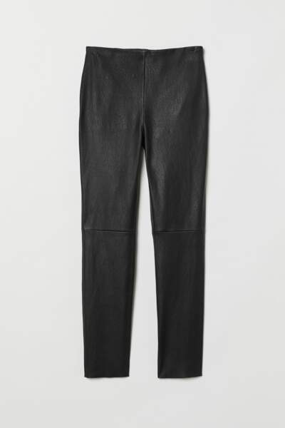 Pantalon en cuir, 173,99 €, H&M.