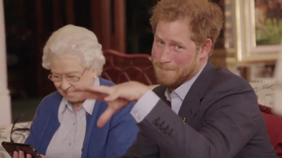 Quand Harry a fait participer la reine à une video promotionnelle pour les Invictus Games