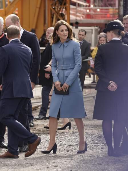 Pour cette visite à Birkenhead, Kate Middleton a décidé de recycler son manteau Alexander McQueen