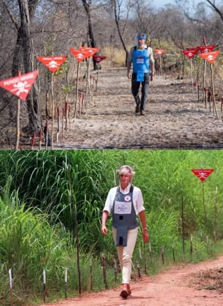 Le prince Harry et Lady Diana traversent un même champ de mines à 22 ans d'écart