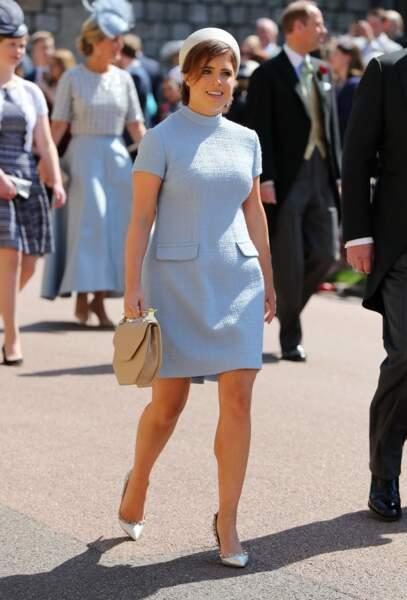 Lorsque la princesse Eugenie est apparue en robe au-dessus du genou au mariage de Meghan et Harry, en 2018