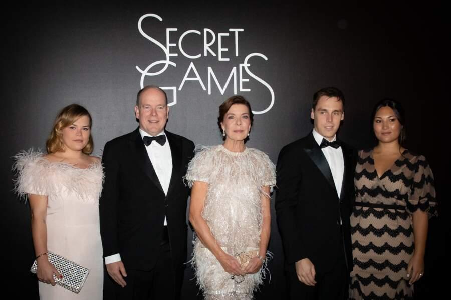 Camille Gottlieb, le prince Albert II de Monaco, Caroline de Hanovre, Louis Ducruet et sa femme Marie