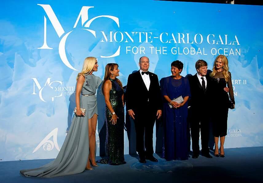 Gwen Stefani, Jane Seymour, le prince Albert II, Sybille Redford, Robert Redford et Nicole Kidman
