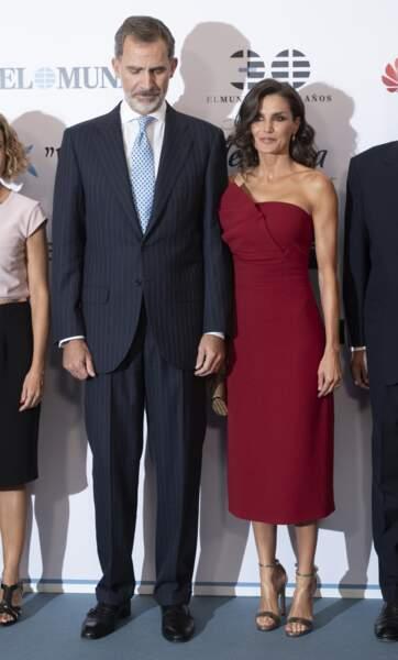 Le roi Felipe VI et la reine Letizia d'Espagne en tenue de fête à Madrid, le 1er octobre 2019