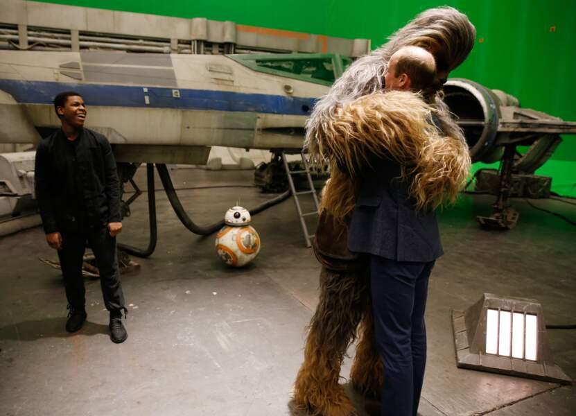 Quand le prince William a fait un câlin à Chewbacca, en 2016