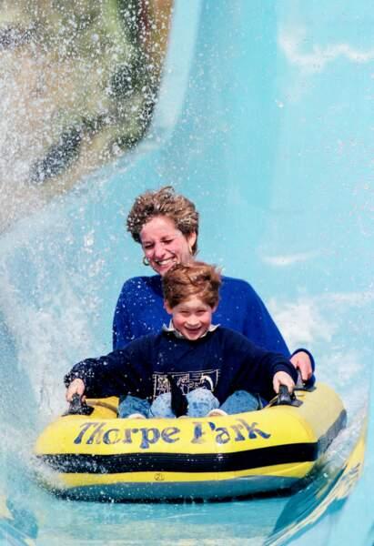 Lorsque Diana a emmené ses enfants dans un parc d'attraction