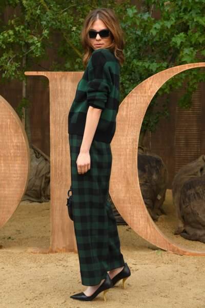 Morgan Polanski a misé sur la collection british pour assisté au défilé printemps-été 2020 de Dior.