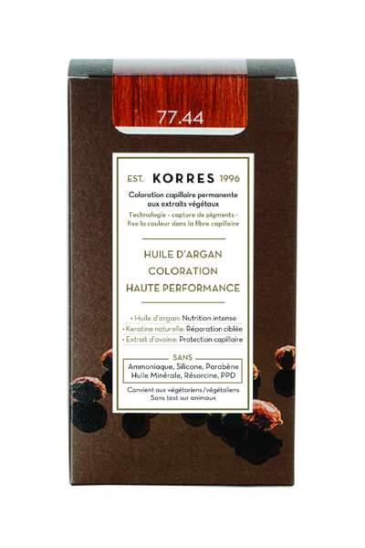 Une formule végétales pour reflets chauds: Coloration aux extraits végétaux, Korrès, 15,90€