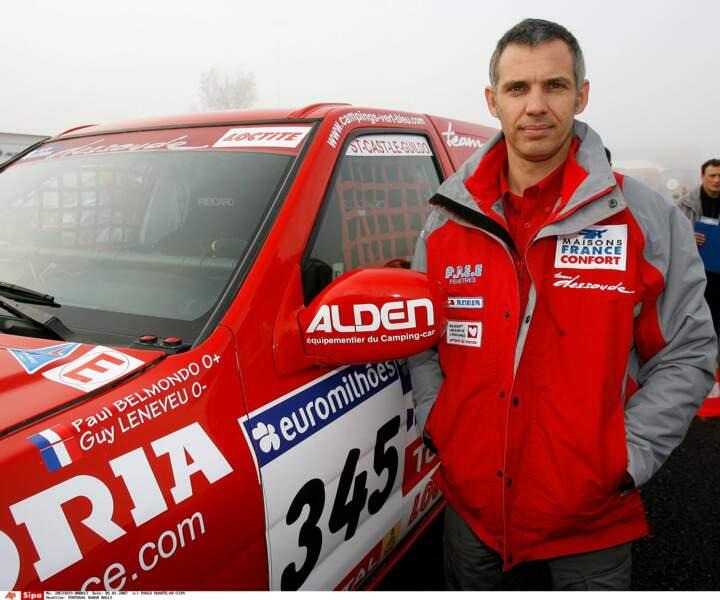 Paul Belmondo, lors du rallye Lisbonne-Dakar, en 2007