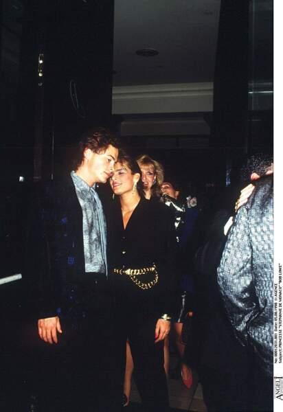 Stephanie de Monaco et Rob Lowe en 1986