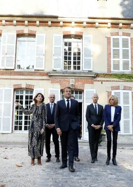 Brigitte et Emmanuel Macron étaient également accompagnés de Jean-Michel Blanquer et de Franck Riester.