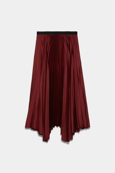 Jupe plissée, 39,95, Zara.