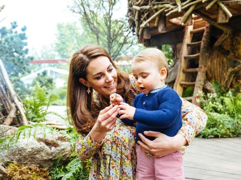 Quand Kate Middleton a visité le Chelsea Flower Show accompagnée par son fils Louis