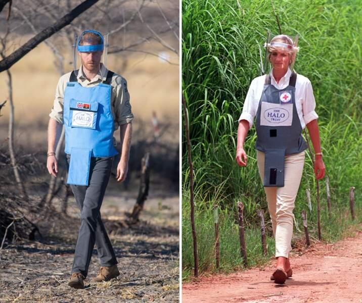 En Afrique du Sud, le prince Harry en 2019 et Lady Di en 1997