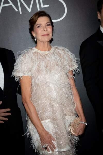 La princesse Caroline de Hanovre, radieuse dans une robe Chanel Haute Couture de 2014