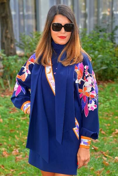 Fleurs et feuilles oranges, Karine Ferri est au couleur de l'automne