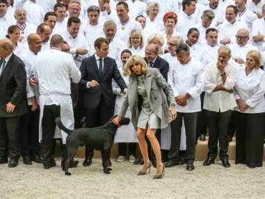 PHOTOS - Brigitte Macron sublime en robe zippée Louis Vuitton, la première dame n'a cure des polémiques sur son look