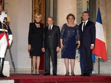 PHOTOS - Brigitte Macron chicissime pour son premier dîner d'Etat à l'Elysée