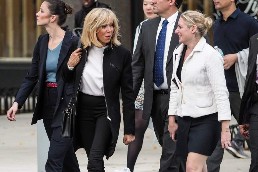 Brigitte Macron se balade sur Battery park Esplanade à New York