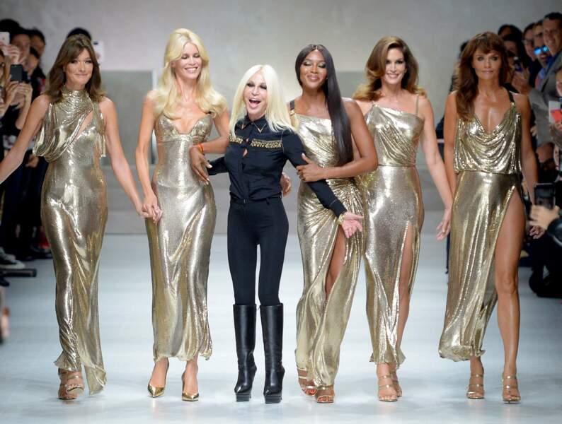 Cindy, Naomi, Claudia, Carla, les stars des années 90 font leur grand retour