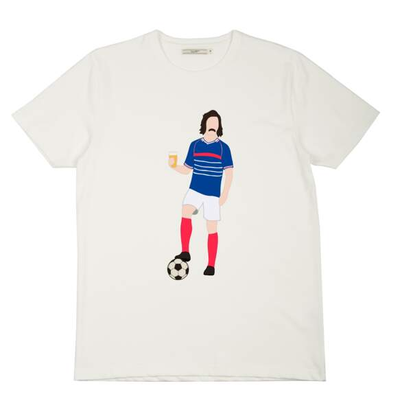 Tee-shirt Coupe du Monde dédicace aux Robins des Bois (Radio Bière Foot), Olow, 39 € (olow.fr).