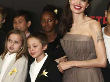 Angelina Jolie, radieuse avec ses enfants à New-York