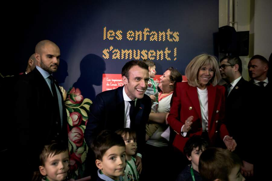 Brigitte et Emmanuel Macron célèbrent le Noël de l'Elysée